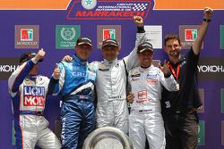 Podium: Franz Engstler, Liqui Moly Team Engstler, BMW 320si, Robert Huff, Chevrolet, Chevrolet Cruze LT, Gabriele Tarquini, SR - Sport, Seat Leon 2.0 TDI et Tiago Monteiro, SR - Sport, Seat Leon 2.0 TDI, Franz Engstler, Liqui Moly Team Engstler, BMW 320s