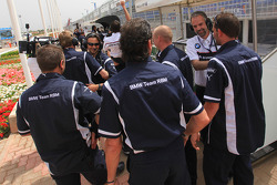 BMW Team RBM celebrating