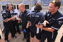 BMW Team RBM celebrating