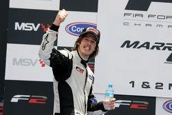 Will Bratt celebrates third place on the podium