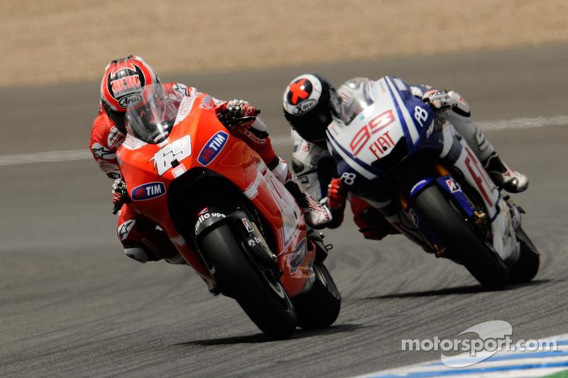 Nicky Hayden, Ducati Marlboro Team, Jorge Lorenzo, Fiat Yamaha Team