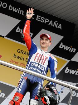 Podio: ganador de la carrera Jorge Lorenzo, Fiat Yamaha Team celebrates
