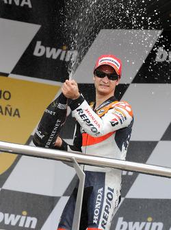Podio: segundo lugar Dani Pedrosa, Repsol Honda Team