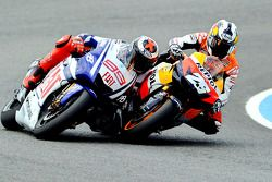 Jorge Lorenzo, Fiat Yamaha Team and Dani Pedrosa, Repsol Honda Team side by side
