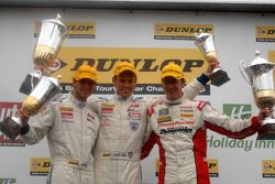 course 1 Podium: 1st Tom Chilton, 2nd Gordon Shedden, 3rd Tom Onslow-Cole