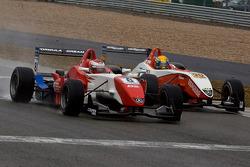 Daisuke Nakajima et Esteban Gutierrez en bagarre jusqu'à la ligne d'arrivée dans le dernier tour