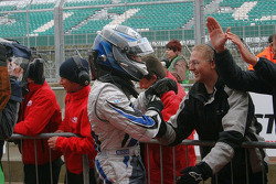 Gabriel Dias celebrates his win