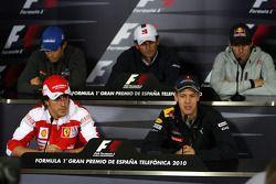 Bruno Senna, Hispania Racing F1 Team, Fernando Alonso, Scuderia Ferrari, Pedro de la Rosa, BMW Saube