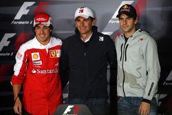 The 3 spanish drivers, Fernando Alonso, Scuderia Ferrari, Pedro de la Rosa, BMW Sauber F1 Team, Jaim
