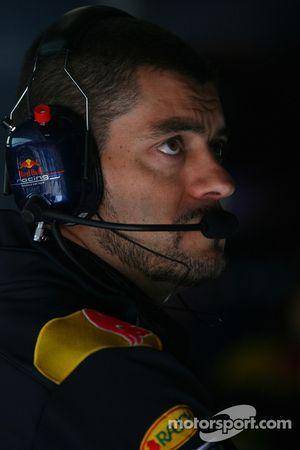 Гийом Роклен,гоночный инженер Себастьяна Феттеля Red Bull Racing