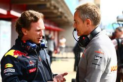 Christian Horner, Red Bull Racing, Sporting Director and Martin Whitmarsh, McLaren, Chief Executive