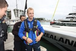 Mikko Hirvonen prepares to compete against the Citroën team in sailing
