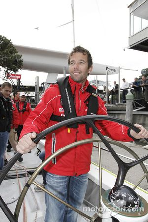 Sébastien Loeb helps his team compete against Ford in a yacht race