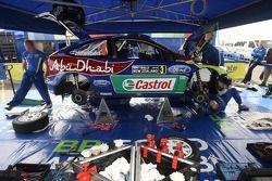 Mikko Hirvonen and Jarmo Lehtinen, Ford Focus RS WRC08, BP Ford Abu Dhabi World Rally Team