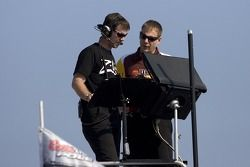 Kyle Busch's nationwide crew chief, Jason Ratcliff, and his cup crew chief, Dave Rogers