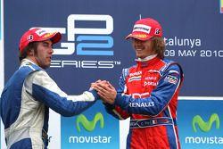 Podium: winnaar Charles Pic, 2de Giacomo Ricci