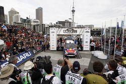 Podium: second place Sébastien Ogier and Julien Ingrassia, Citroën C4 WRC, Citroën Junior Team