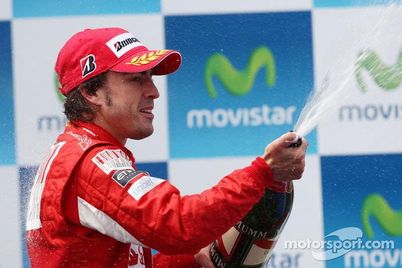 Podium: 2de Fernando Alonso, Scuderia Ferrari