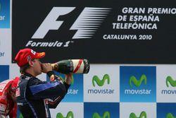 Podium: troisième place pour Sebastian Vettel, Red Bull Racing