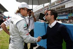Nico Rosberg, Mercedes GP Petronas, Nicolas Todt