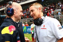 Adrian Newey, Red Bull Racing, Technical Operations Director with Martin Whitmarsh, McLaren, Chief E