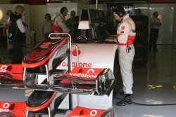McLaren Mercedes box