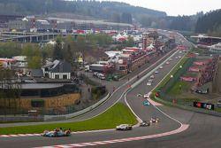 Start: #49 Applewood Seven Formula Le Mans Oreca 09: Damien Toulemonde, David Zollinger, Ross Zampatti