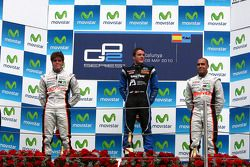 Podium: winner Fabio Leimer, second place Luiz Razia, third place Pastor Maldonado