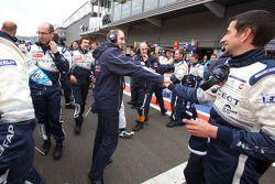 La Team Peugeot Total fête la victoire