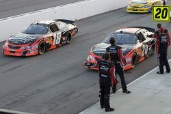 Denny Hamlin's crew wishes luck to him and Kyle Busch