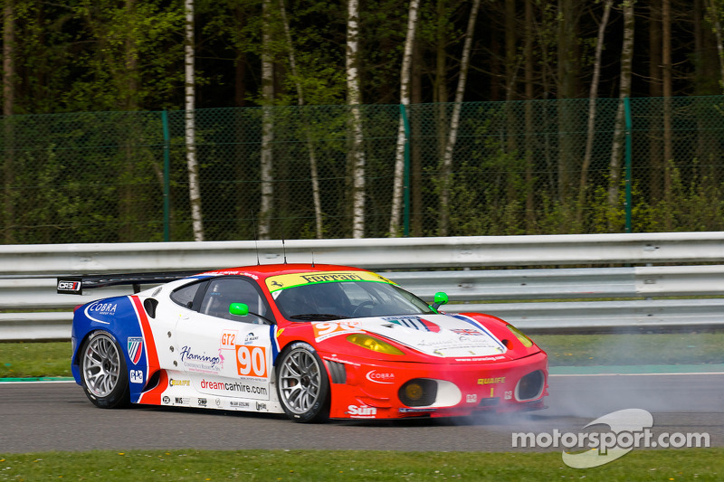Spin voor #90 CRS Racing Ferrari F430 GT: Pierre Ehret, Phil Quaife, Pierre Kaffer