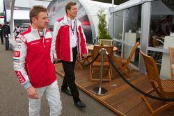 L'évènement Audi meet the drivers : Allan McNish et Ralf Juttner