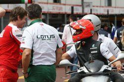 Rob Smedly, Scuderia Ferrari, Chief Engineer of Felipe Massa, Michael Schumacher, Mercedes GP rides