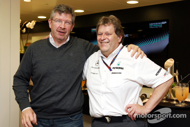 Ross Brawn Team Principal, Mercedes GP, Norbert Haug, Mercedes, Motorsport baas