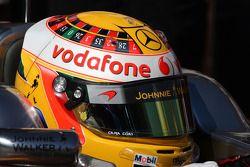 Lewis Hamilton, McLaren Mercedes casco nuevo con diseño de ruleta