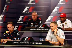Christian Horner, Red Bull Racing, Directeur sportif, John Booth, Virgin Racing Directeur sportif, Martin Whitmarsh, McLaren, Président, Tony Fernetes, Lotus F1 Team, Team Principal