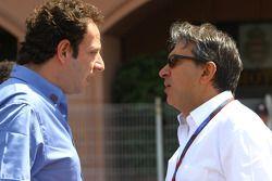 Matteo Bouciani, attaché de presse de Jean Todt, President de la FIA et Pasquale Lattuneddu, FOM, Formula One Management