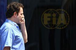 Matteo Bouciani, attaché de presse de Jean Todt, President de la FIA