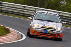 #242 East Belgian Racing Team Renault Clio: Jacky Delvaux, René Marin, Bruno Beulen