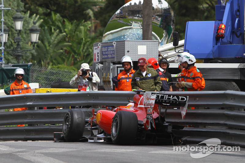 Fernando Alonso, Scuderia Ferrari accidenté