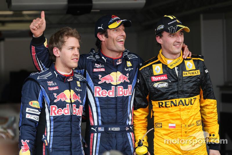 Robert Kubica, Grand Prix Monako 2010, Sebastian Vettel, Mark Webber,