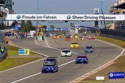 Start: #118 Volkswagen Motorsport Volkswagen Scirocco: Jimmy Johansson, Florian Gruber, Nicki Thiim,
