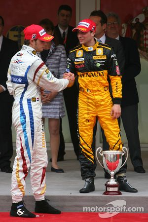Podium: race winner Jerome d'Ambrosio, second place Giedo van der Garde
