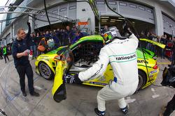 Pit stop for #1 Manthey Racing Porsche GT3 R: Marc Lieb, Timo Bernhard, Romain Dumas, Marcel Tiemann