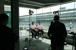 Scott Dixon, Target Chip Ganassi Racing and Dario Franchitti, Target Chip Ganassi