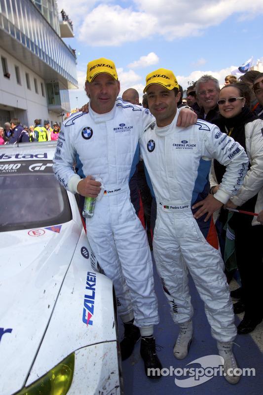 Race winnaars Uwe Alzen en Pedro Lamy