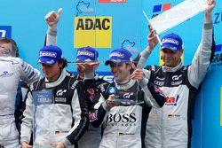 Podium: 3e Dennis Rostek, Luca Ludwig, Marc Bronzel, Markus Winkelhock