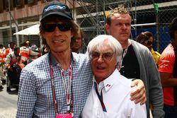 Mick Jagger con Bernie Ecclestone