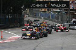 Début de la course, Mark Webber, Red Bull Racing