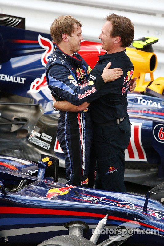 Sebastian Vettel, Red Bull Racing, Christian Horner, directeur général de Red Bull Racing